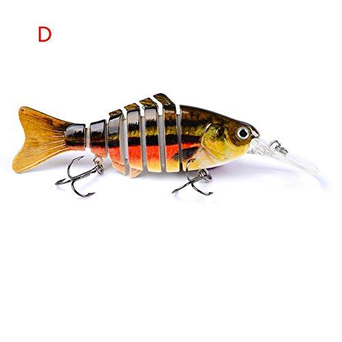 Wingbind ABS 1pcs Multi Jointed Swimbait Lures Crankbaits Baits Hard Bait Fishing Lures t Treble Hooks Baits 112cm 14g4style