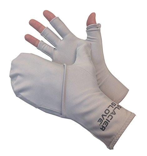 Glacier Glove Abaco Bay Gray Flip Mitt Sungloves SmallMedium