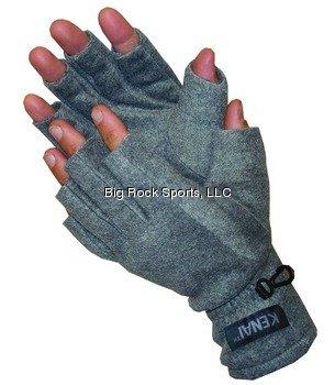 Glacier Glove Fingerless Fleece Glove Grey SmallMedium