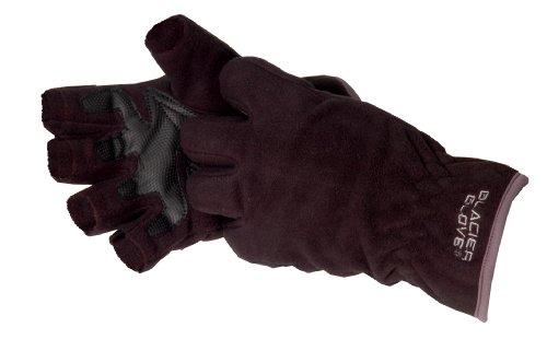 Glacier Glove Windproof Fleece Fingerless Glove Black Large