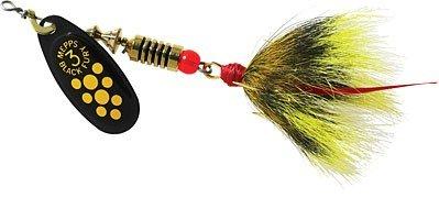Mepps BF5T Y Black Fury - Dressed Treble 12-Ounce Yellow Dot