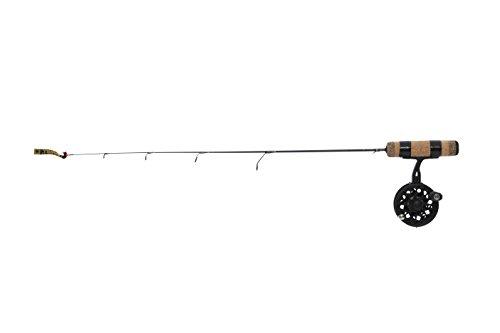 Frabill Straight Line 101XLA 24-Inch UL Ice Fishing Combo Black