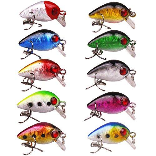 Free fisher 10 Pcs Tiny Fishing Crankbaits Hard Lures 1006oz