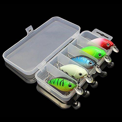 OriGlam 5 Colors 75cm Minnow CrankBaits Fishing Lures Small Fat Simulation Bait Fishing Gear Topwater Floating Lure Life-like Swimming Swimbait Bass Bait Hard Fishing Lure Hooks Bass Crankbait
