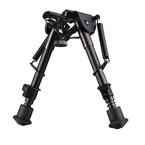 Vokul 6 to 9 Hunting Rifle Bipod Adjustable Spring Return Sniper Sling Swivel Mount