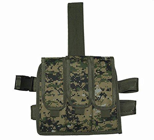 Ultimate Arms Gear Woodland Digital Camouflage Triple Drop Leg Magazine Pouch For AR15 AR-15 M4 M16 223 556
