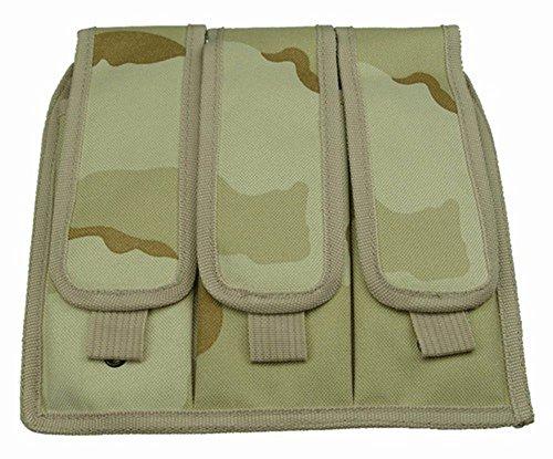 Ultimate Arms Gear Desert Camouflage Triple Drop Leg Magazine Pouch For Ruger 1022 10-22 Mini 14 30 SR-556 SR-22 Rifle
