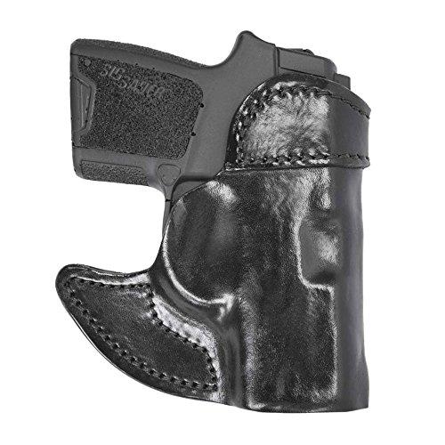 Front Pocket Leather Holster Black Left Hand Sig P238