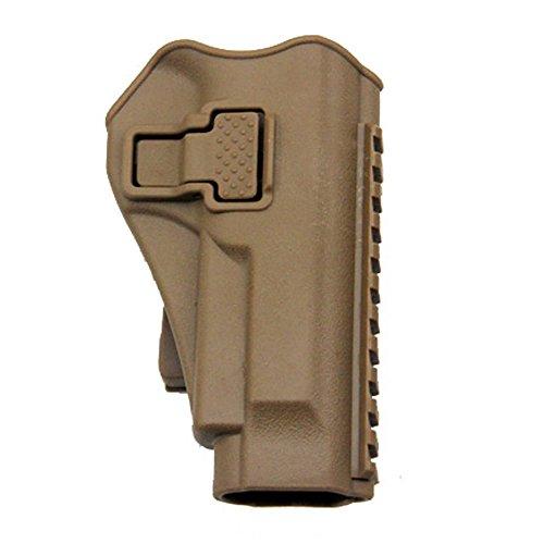 Tactical Right Hand Waist Gun HolsterMOLLE Vest Pistol Holster for Beretta M9 M92 Tan Vest Holster