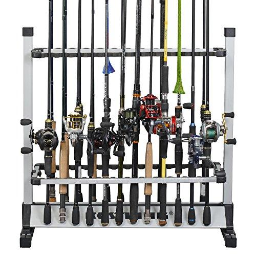 KastKing Rack em Up 24 Fishing Rods Holder Portable Aluminum Rack