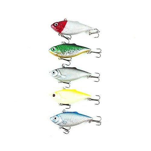 "orurudo fishing japan Lure Set Set Of 5 236"" 6 Cm 027 Oz 78 G Vibration A Ideal For Black Bass And Sea Bass Fishing Standard Hera-Crucian Type Bakuzuri Set Of 5 Qb100005A01"