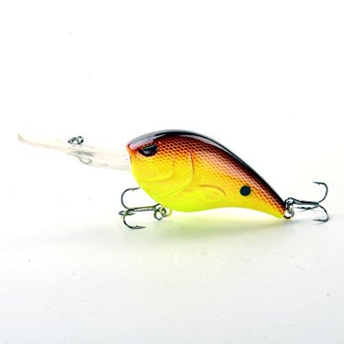 3 28g Cranking Fishing Lures for Freshwater Hard Bait Big Square Bill Lip Red Eye Bass Minnow Topwater Floating Popper Lures Crankbait Wobbler sunfish