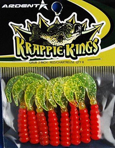 Krappie Kings CrappiePanfish Grub Jig RedChartreuse 2
