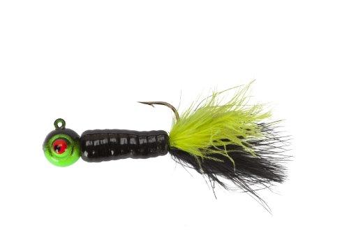 Lindy Fuzz-E Grub Jigs - BlackChartreuse - 2 in - 14 oz