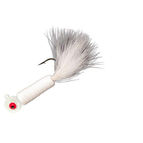Lindy Fuzz-E Grub Jigs - White - 2 in - 18 oz