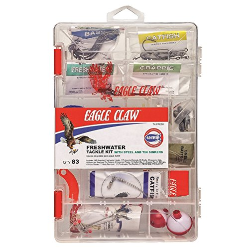 Eagle Claw EC Fresh Water Tackle Kit 83 Piece