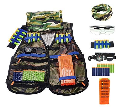 Tactical Vest Kit Kids Elite Tactical Vest Kit For N-strike Elite Series Blasters Camouflage