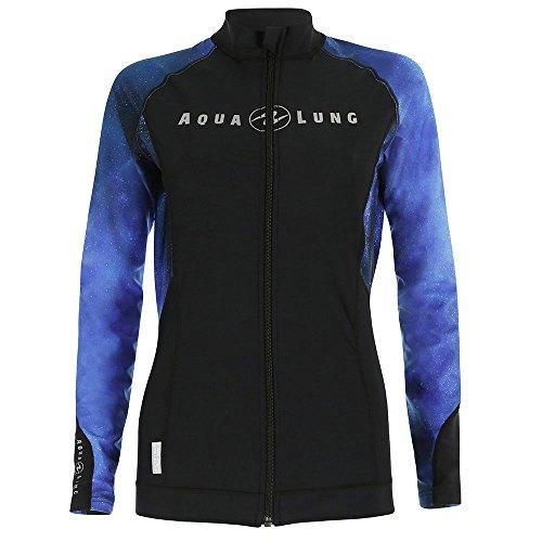 Aqua Lung Womens Rashguard Zipper - Galaxy Blue - Medium