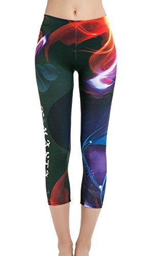 Dive Sail Womens Full Length Surfing Leggings UPF 50 Sun Protection Swim Tights With Printed Design Rashguard Pants4