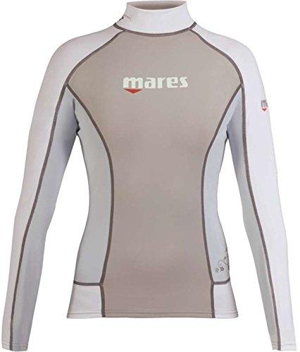 Mares Womens Rash Guard Long Sleeve She Dives Blue Fog 6