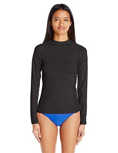 Rip Curl Womens G-Bomb Long-Sleeve Breathable UV Rashguard Black Medium
