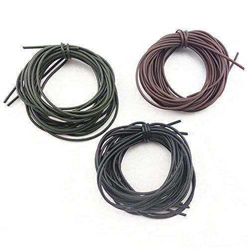 Carp Fishing Rigs Hair Rigs For Carp - 3Pcs 1 Meters Carp Fishing Silicone Rig Sleeves Black Green Coffee Soft Carp Rigs Tube Carp Fishing Accessories - Hair Rig
