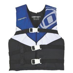 OBrien Youth 3 Buckle Nylon Vest BlueWhiteBlack 50-90-Pounds