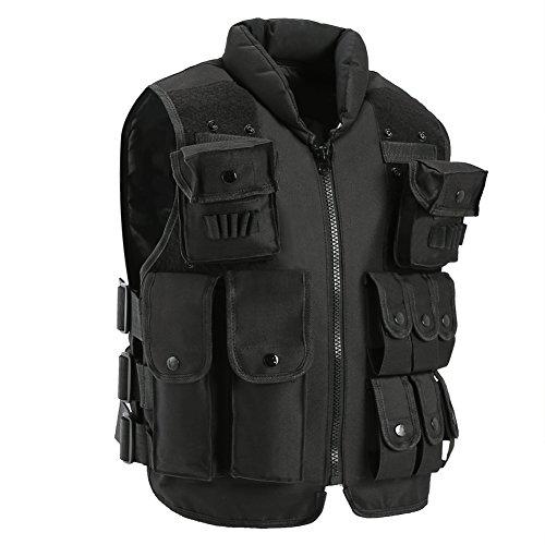 antWalking Outdoor Tactical Nylon Vest Security Guard Adult Waistcoat CS Field Combat Training Vest Large