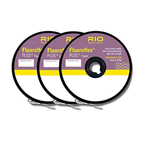 Rio Fluoroflex Plus Tippet - 3 Pack ONE COLOR 4X-6X