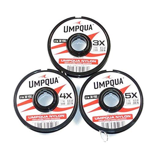 Umpqua Nylon Fly Fishing Tippet 3 Pack 4X 5X 6X