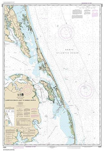NOAA Chart 12204 Currituck Beach Light to Wimble Shoals 343 x 49 TRADITIONAL PAPER