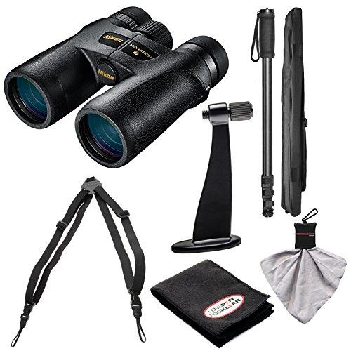 Nikon Monarch 7 10x42 ED ATB WaterproofFogproof Binoculars with Case  Harness  Tripod Adapter Monopod  Kit