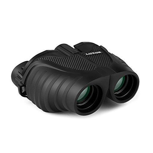 Compact Binoculars SGODDE 8x25 Waterproof Binocular -Large Eyepiece Super High Powered Field  Weak Light Night Vision Prism BinocularsBAK4Green Lens for Bird Watching Travelling Concert