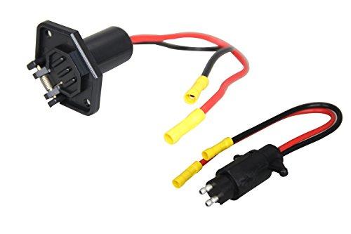 Pactrade Marine Boat Trolling Motor Plug Socket Set 12V 2-Wire 10 Gauge