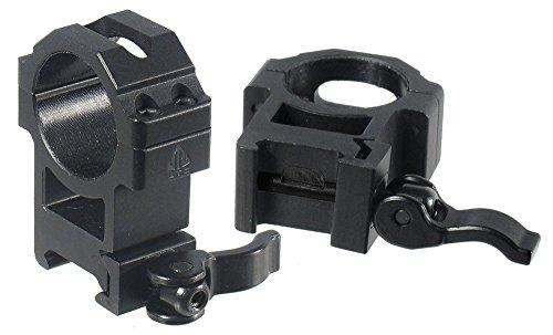 UTG 30mm2PCs Hi Pro LE Grade Picatinny QD Rings 22mm Wide