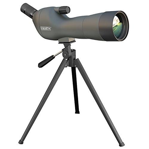 Emarth 20-60x60AE Waterproof Angled Spotting Scope with Tripod 45-Degree Angled Eyepiece Optics Zoom 39-19m1000m