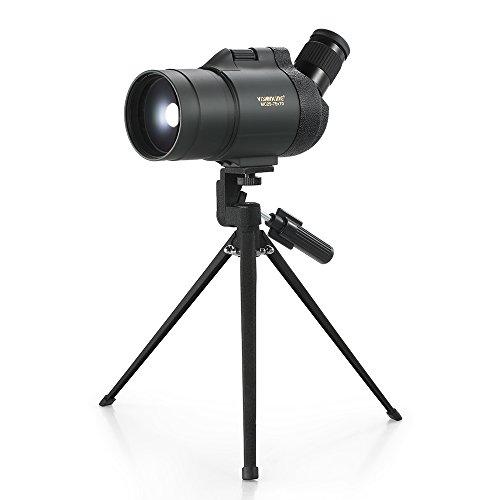 Lixada 25-75x70 Waterproof Fogproof Angled Spotting Scope Bak4 Prism Monocular Telescope with Tripod Carry Case for Bird Watching Travel