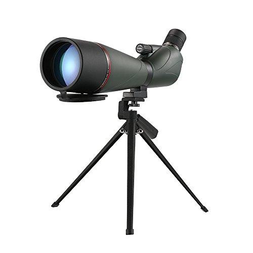 Lixada Eyeskey 20-60x80 Angled Spotting Scope BaK4 Waterproof Fogproof Portable Travel Scope Monocular Telescope with Tripod Carry Case for Bird Watching Camping