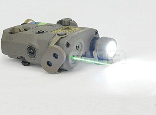 H World Shopping Airsoft Version PEQ LA5 Upgrade Version LED White Flashlight  Grn laser w IR AEG GBB CQB FG