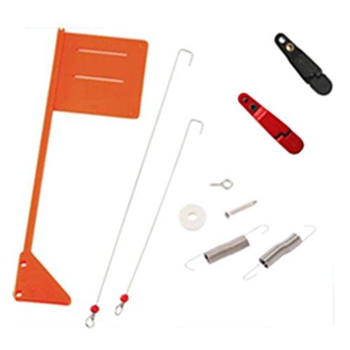 Krazywolf Upgrade Tattle Flag Kit For Offshore Opti and Yellow Birds Planer BoardsF003
