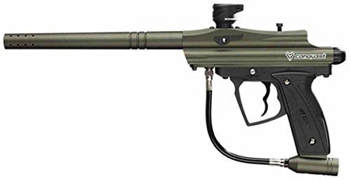D3FY Conqu3st Semi Auto Paintball Marker Gun with Barrel Olive Drub