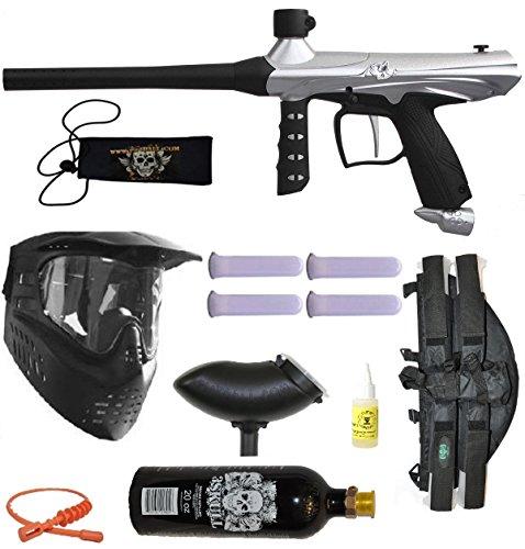 Tippmann Gryphon Paintball Marker Gun 3Skull 41 BC Mega Set - Silver