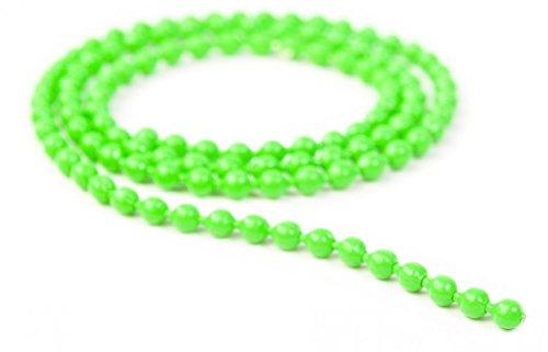 Fly Fishing Tying Beads - Beadchain Eyes Green L 41mm