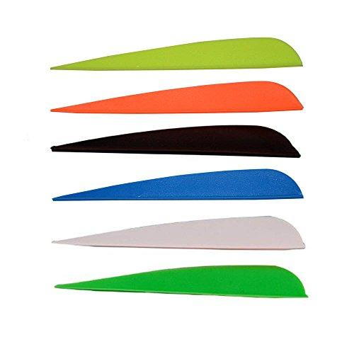 4 Plastic Arrow Fletching Vanes Archery Fletches for Crossbow Plastifletch Vanes 4 Color Mixed Random Color 100pcs
