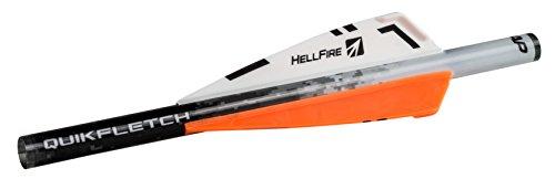 Quikfletch New Archery Products 3 Hellfire Fletching 6 Pack Orange
