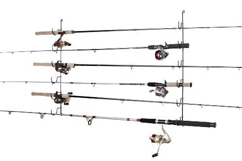 RackEm Horizontal 6-Rod Fishing Rod Rack