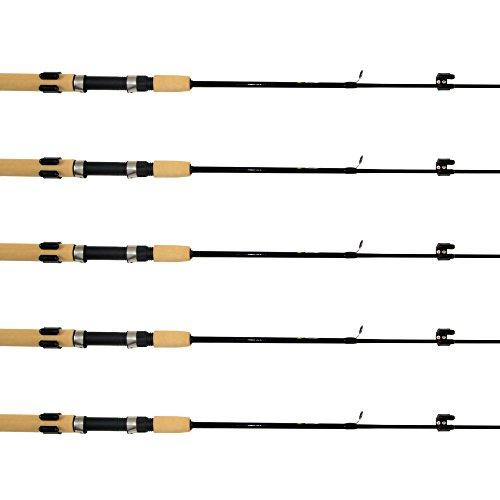 SAMSFX Horizontal Fishing Rod Rack Storage Clip Fishing Rod Holders 5 Sets w Screws Screwdriver
