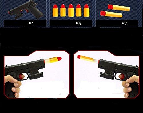 Ferbixo Toy Gun - Brand New Realistic 11 Scale Colt M1911A1 Rubber Bullet Pistol
