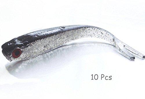 Yeme 3D Soft Lures Lead Fish Baits - 10 Pcs