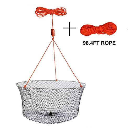 Goture Double Ring Fishing Crab Lobster Hoop Net Fishing Bait Trap Diameter 236X197 Net Depth 1024 Lightweight Net With 984 Rope